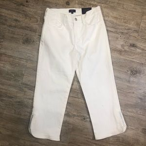 NYDJ Not Your Daughters Jeans White Capri Crop